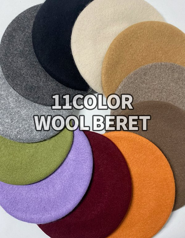 No.8491 wool beret (11color)